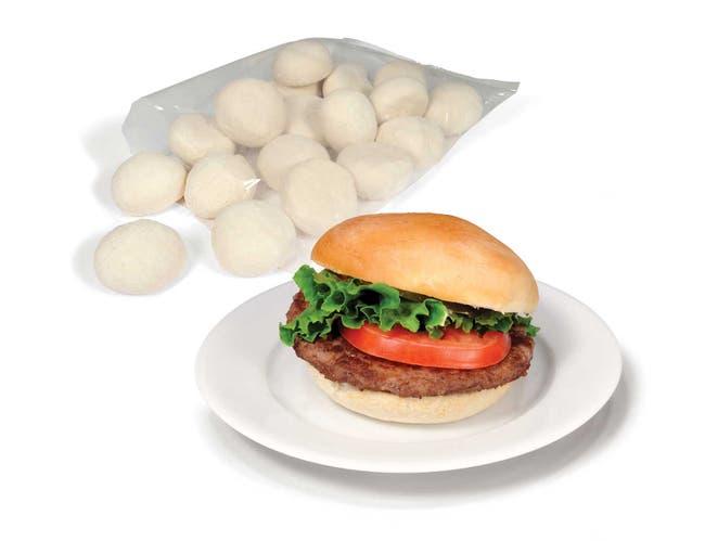Bridgford White Bun Dough Piece -- 84 per case.