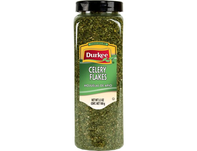 Durkee Celery Flakes, 3.5 Ounce -- 6 per case.