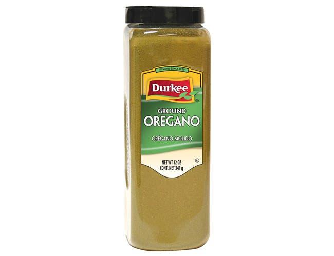 Durkee Ground Oregano - 12 oz. container, 6 per case