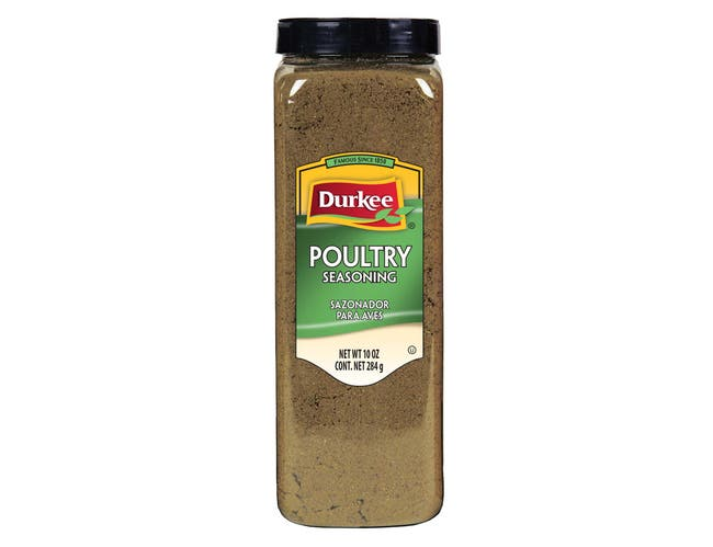 Durkee Poultry Seasoning - 10 oz. container, 6 per case