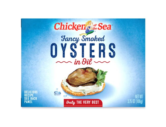 Chicken Of The Sea Smoked Oyster In Oil, 3.75 Ounce -- 18 cans per case.