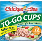 Chicken of the Sea Chunk Light Tuna in Water Cup, 2.8 Ounce -- 8 per case.