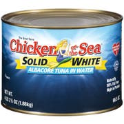 Tuna Solid White In Water Albacore 6 Can 66.5 Ounce