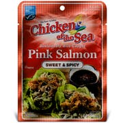 Chicken of the Sea Skinless Boneless Pink Salmon Sweet and Spicy Pouch, 2.5 Ounce -- 12 per case.