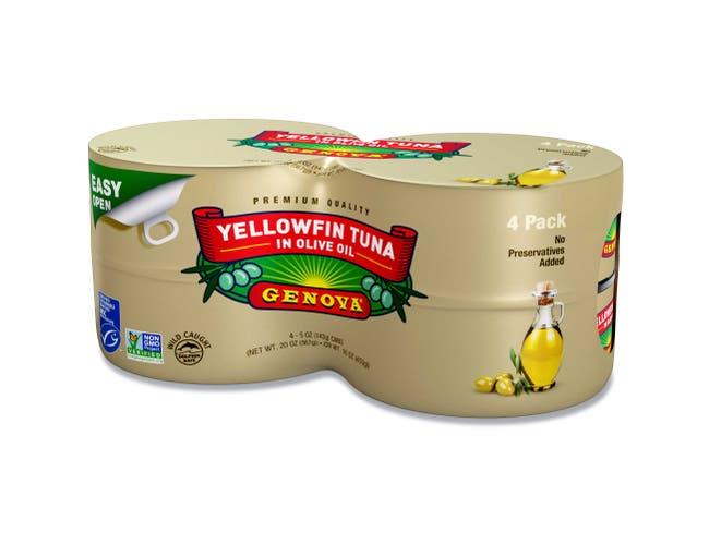 Genova Yellowfin Tuna in Olive Oil, 20 Ounce -- 6 per case.