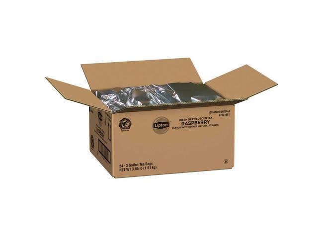 Lipton Iced Tea Bags Raspberry Unsweetened, 3 gallon -- 24 per case