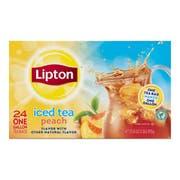 Lipton Iced Tea Bags Peach Unsweetened, 1 gallon -- 48 per case