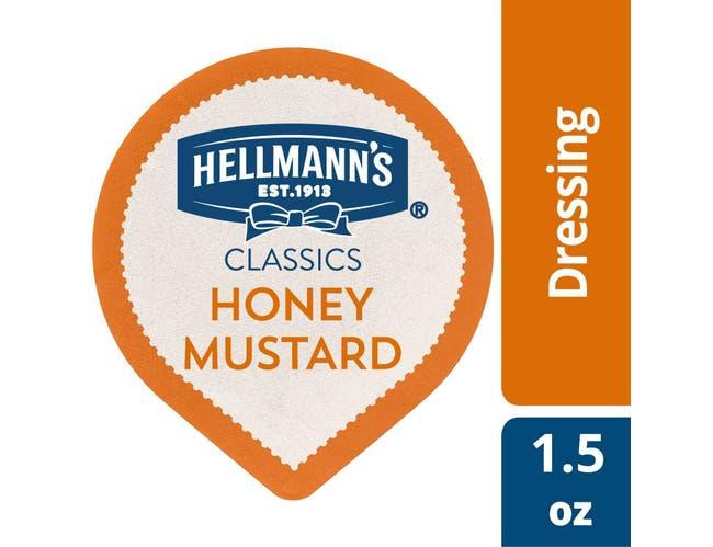 Hellmann's Classics Dip Cups Honey Mustard Dressing 1.5 oz-- 108 per case