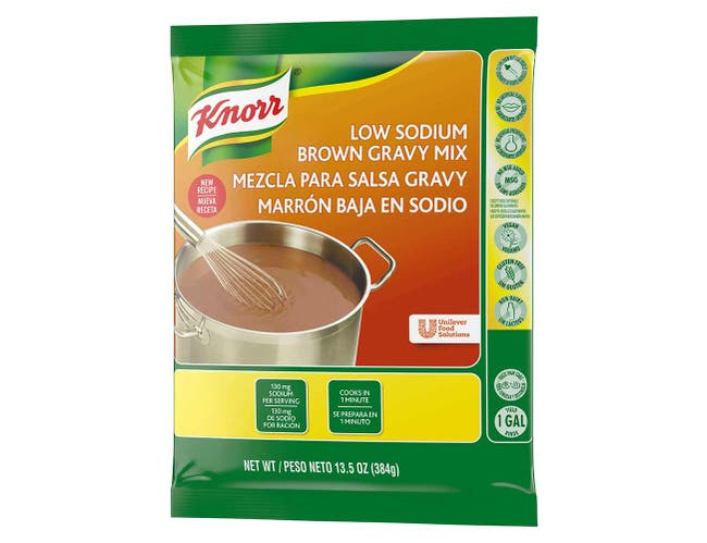 Knorr Professional Low Sodium Brown Gravy Mix, 13.5 ounce -- 6 per case