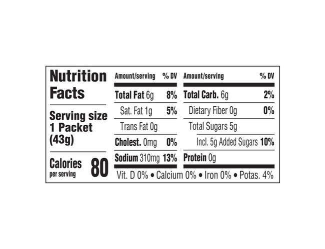 Hellmann's Classics Raspberry Vinaigrette Salad Dressing Portion Control Sachets, 1.5 ounce -- 102 per case