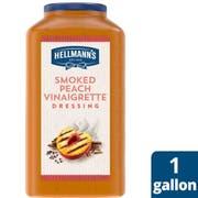 Single Hellmann's Smoked Peach Vinaigrette Salad Dressing Jug, 1 gallon -- 1 each