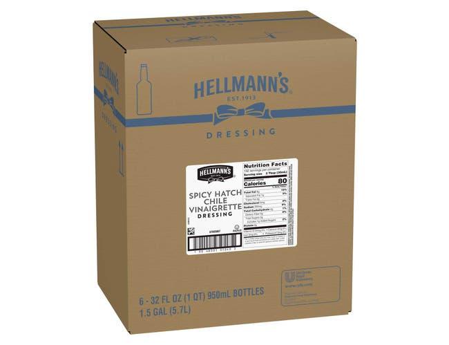 Hellmann's Salad Dressing Salad Bar Bottles Spicy Hatch Chile Vinaigrette 32 oz -- 6 per case
