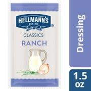 Hellmann's Classics Salad Dressing Portion Control Sachets Ranch 1.5 oz -- 102 per case
