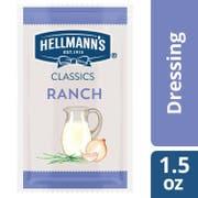 Hellmanns Classics Salad Dressing Portion Control Sachets Ranch 1.5 oz -- 102 per case