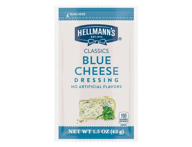 Hellmann's Classics Salad Dressing Portion Control Sachets Blue Cheese 1.5 oz, Pack of 102