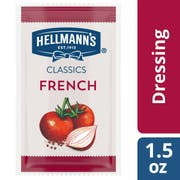 Hellmann's Classics Salad Dressing Portion Control Sachets French 1.5 oz, Pack of 102