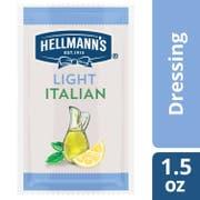 Hellmann's Salad Dressing Portion Control Sachets Light Italian 1.5 oz, Pack of 102