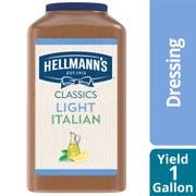Single Hellmann's Light Italian Salad Dressing Jug, 1 gallon -- 1 each