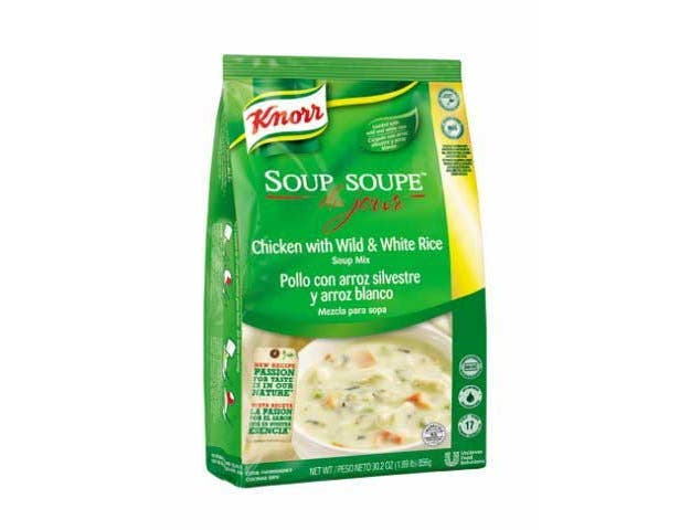 Knorr Professional Soup du Jour Chicken with Wild and White Rice Soup Mix, 30.2 ounce -- 4 per case