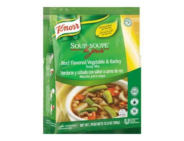 Knorr Professional Soup du Jour Beef Vegetable and Barley Soup Mix, 13.9 ounce -- 4 per case