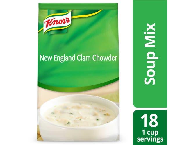 Knorr Professional Soup du Jour New England Clam Chowder Soup Mix, 27 ounce -- 4 per case