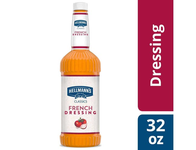 Hellmann's Classics French Salad Dressing Salad Bar Bottle, 32 Ounce -- 6 Per Case