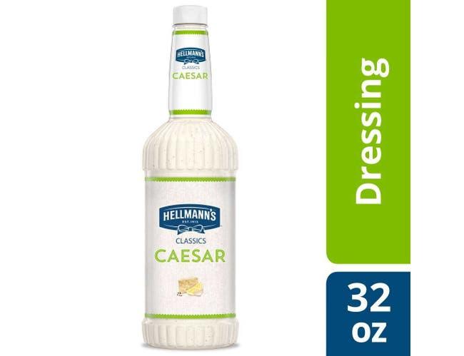 Hellmann's Classics Caesar Salad Dressing Salad Bar Bottle, 32 Ounce -- 6 Per Case
