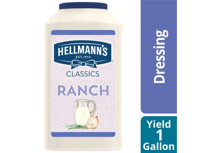 Hellmann's Classics Ranch Salad Dressing Jug, 1 gallon -- 4 per case