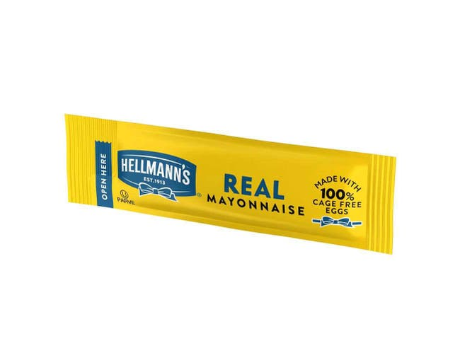 Hellmann's Real Mayonnaise Stick Packets, 0.38 Ounce -- 210 Per Case