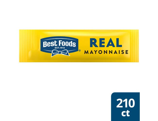 Best Foods Real Mayonnaise Stick Packets, 0.38 Fluid Ounce -- 210 Per Case