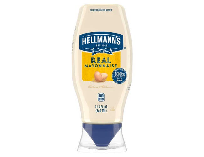Hellmann's Real Mayonnaise Squeeze Bottle, 11.5 ounce -- 12 per case