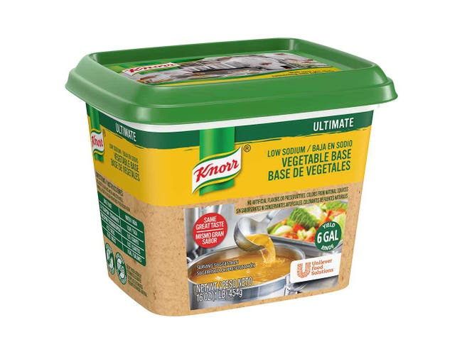 Knorr Professional Ultimate Low Sodium Vegetable Stock Base, 1 pound -- 6 per case