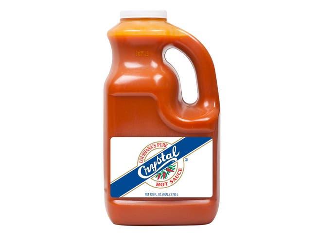 Baumer Foods Plastic Crystal Hot Sauce, 1 Gallon -- 4 Per Case.