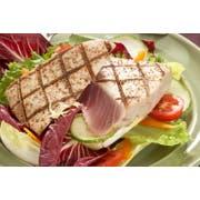 Oyster Bay Co Treated Skinless Boneless Ahi Tuna Steak, 10 Pound -- 1 each.
