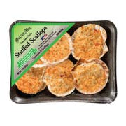 Oyster Bay 1.5 Ounce Stuffed Scallops Portions, 9 Ounce -- 16 per case.