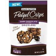 Pretzel Crisps Drizzlers Dark Chocolate Pretzel Snacks, 5.5 Ounce -- 12 per case.