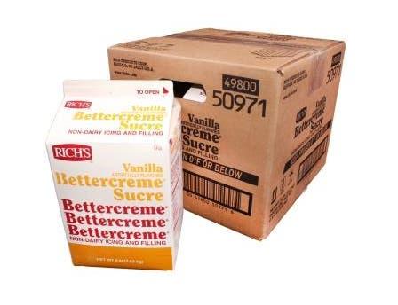 Rich Bettercreme Liquid Vanilla Icing and Filling, 8 Pound -- 4 per case.