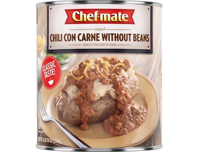 Chef-Mate Original Chili Con Carne without Beans - 106 oz. can, 6 per case