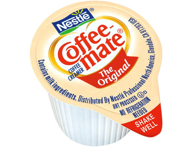 Coffee-Mate Originial Liquid Creamer - 50/0.375 oz. cups per box, 4 boxes per case