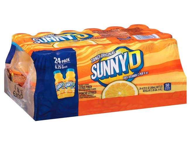 Sunny Delight Shelf Stable Tangy Original Citrus Punch Juice, 6.75 Fluid Ounce Tray -- 24 per case.