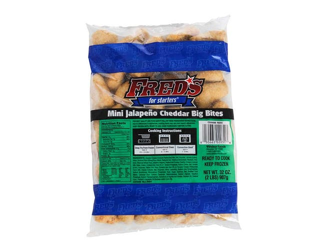 Windsor Appetizer Freds For Starters Breaded Mini Jalapeno Cheddar Bigger Cheese Bite, 2 Pound -- 6 per case.