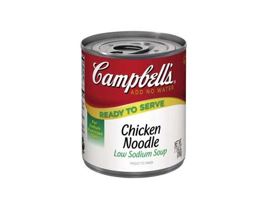 Campbells Ready To Serve Low Sodium Chicken Noodle Soup - 7.25 oz. can, 24 per case