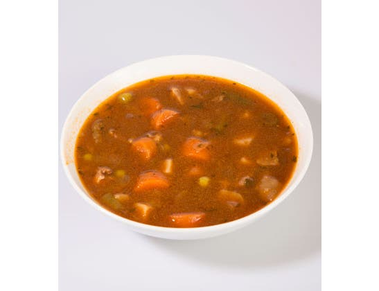 Campbells Frozen Condensed Vegetable Beef Barley Soup - 4 lb. tray, 3 per case