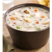 Campbells Frozen Condensed Cream of Potato Soup with Bacon - 4 lb. tray, 3 per case