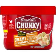 CHUNKY Chicken and Dumpling Soup - 15.25 oz. microwavable bowl, 8 per case