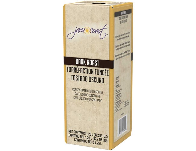 Java Coast Dark Roast Concentrated Liquid Coffee, 1.25 Liter -- 2 per case.