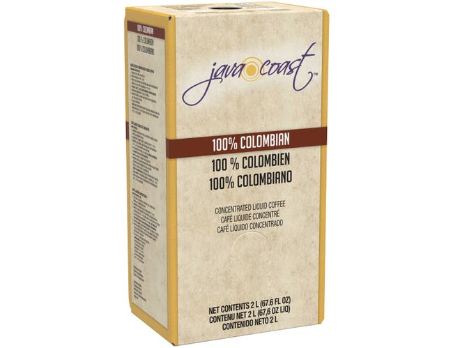 Java Coast 100 Percent Colombian Concentrated Liquid Coffee, 2 Liter -- 2 per case.
