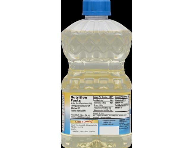 Crisco Vegetable Oil, 32 Fluid Ounce -- 9 per case.