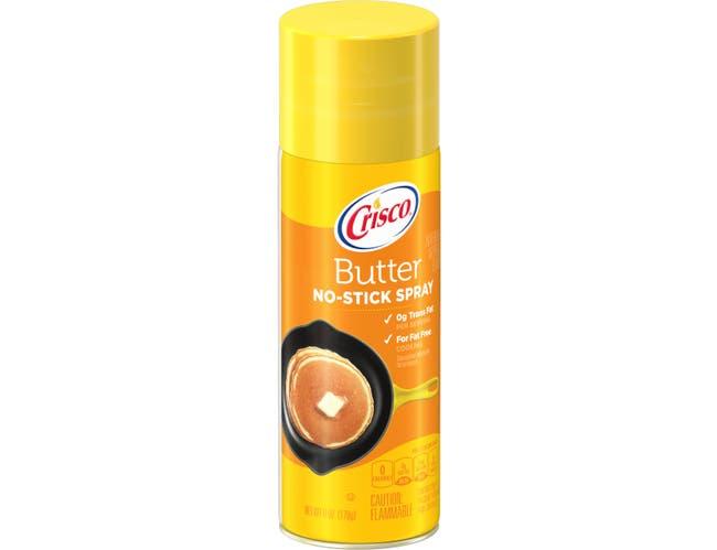 Crisco Butter No Stick Cooking Spray, 6 Ounce -- 12 per case.
