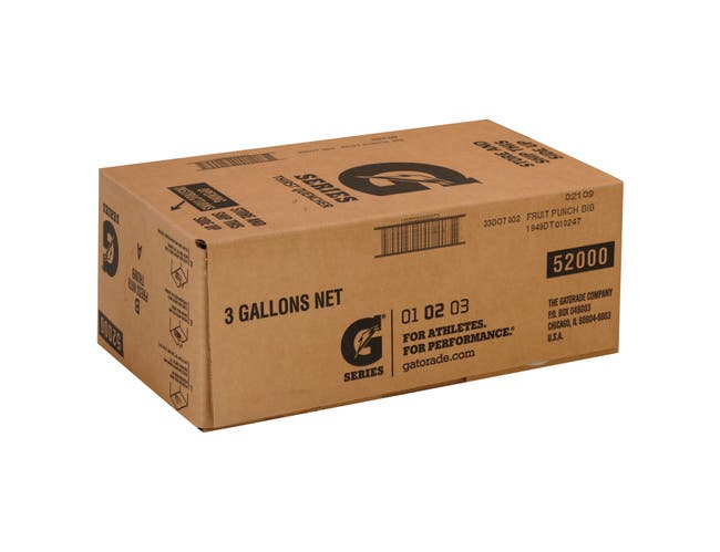 Fruit Punch Bag In Box Concentrate Gatorade 3 Gallon -- 1 Each